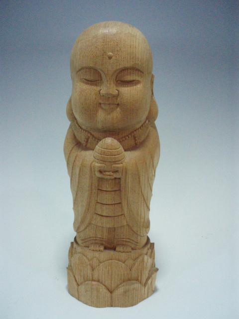 木彫り・・・丸 地蔵(欅)