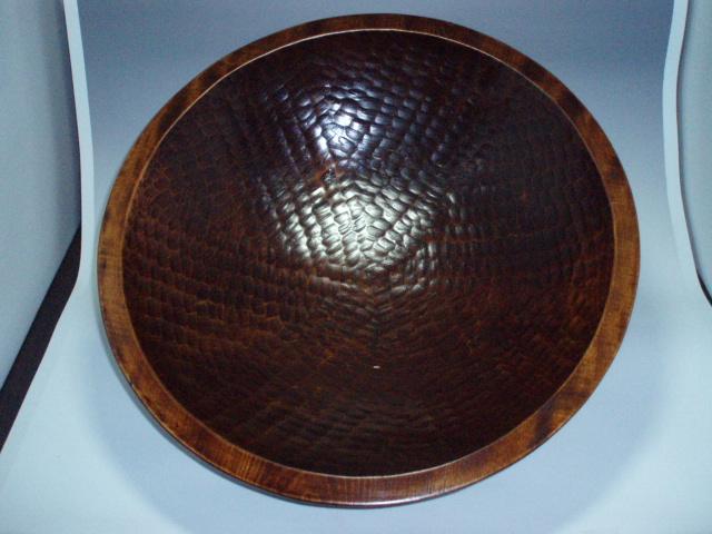 現品・・・栃そばこね鉢尺7(Φ51)手彫、拭漆 kt170-01
