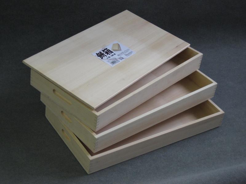 餅箱 3段(本体3・フタ1) スプルース(アラスカ桧) M-31S