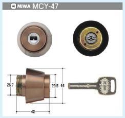 MIWA  電子キーECBHシリンダー(MCY-47)