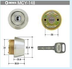 MIWA 電子キー EC.SWLSPシリンダー(MCY-148)