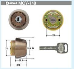 MIWA  電子キーEC,SWLSPシリンダー(MCY-149)