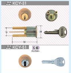 KODAI交換用シリンダー プレジデント本締錠GB(KCY-71)ディンプル