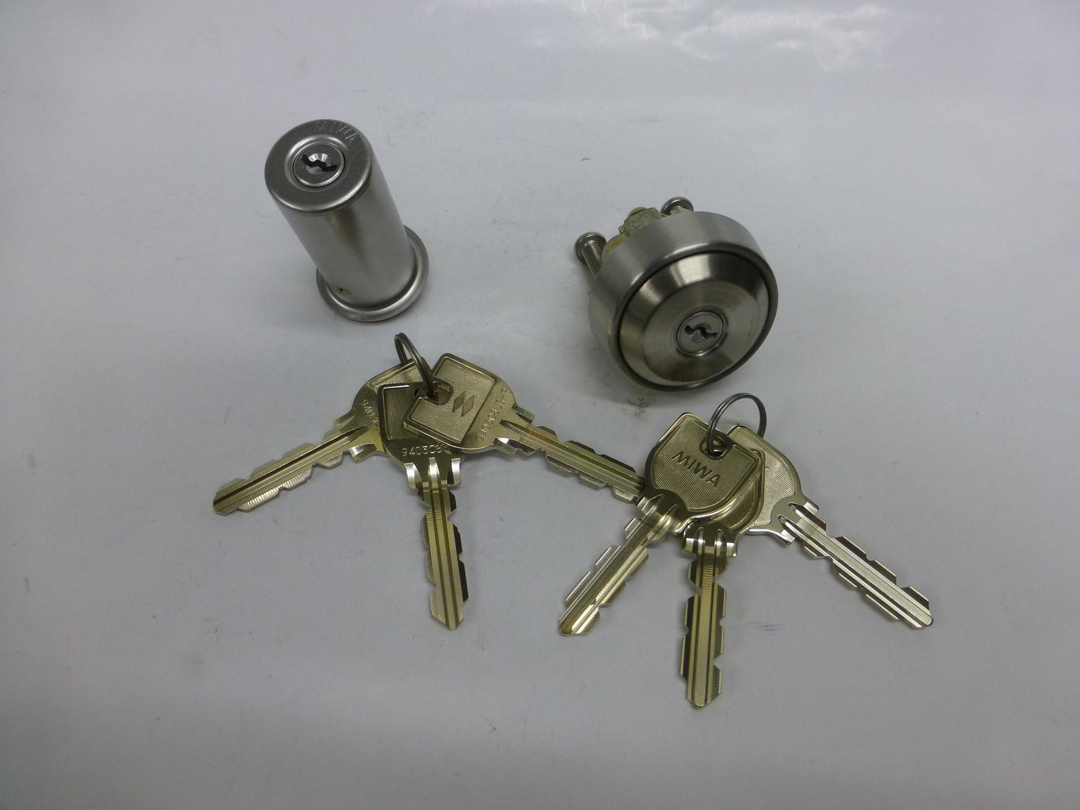 MIWA交換シリンダーU9 PMK NDZ 同一 鍵6本付
