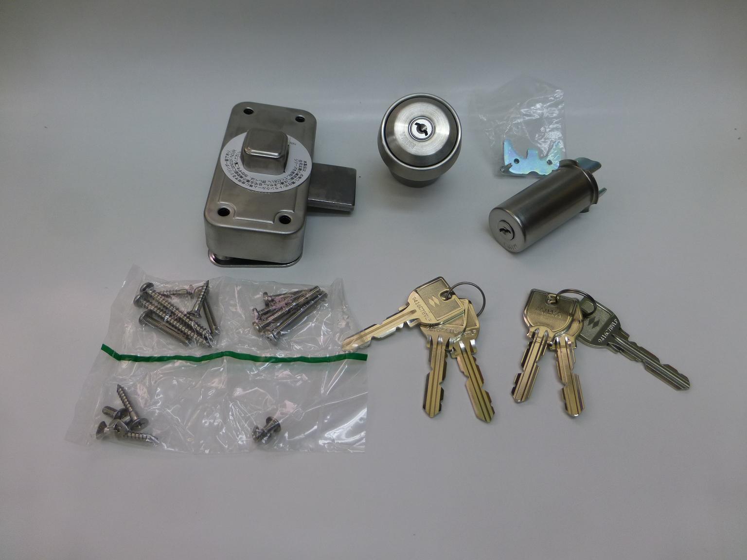 MIWA交換シリンダーU9 RA NDZ-1 同一 鍵6本付