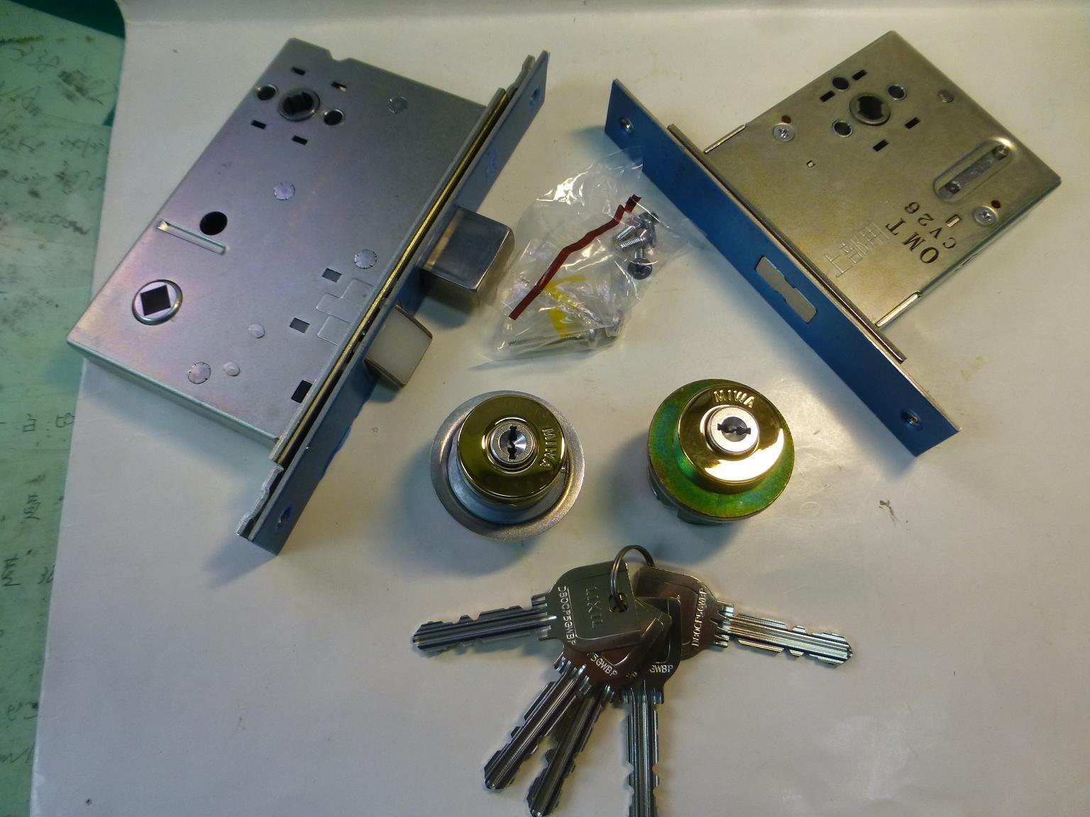 MIWA トステム交換シリンダー MCY-461ゴールドこれはシリンダーのみはありません錠ケースとセットです