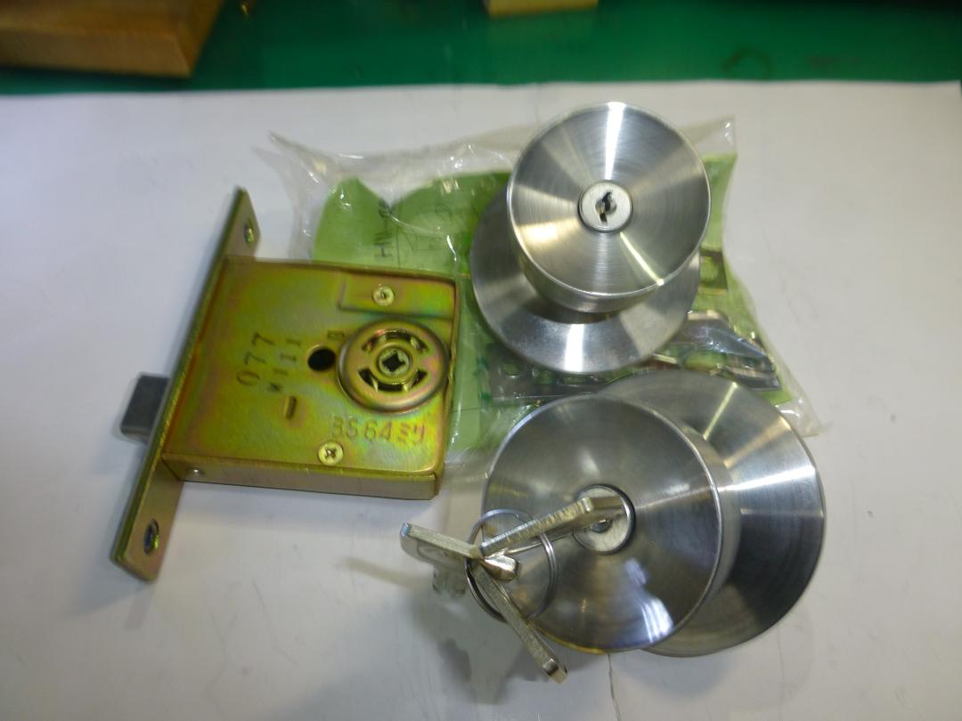 MIWA 握り玉錠 U9HMD-4扉厚33~42mm B/S64mm