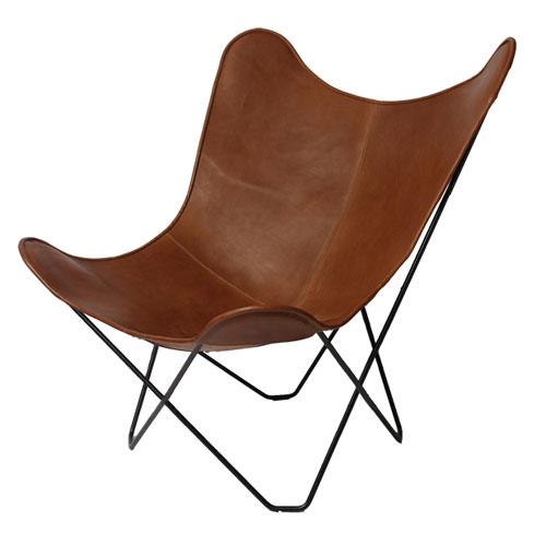 ロイヤルファニチャーコレクション ビーケーエフチェア (バタフライチェア) レザーカラー:ブラウン / Royal BKF Chair /