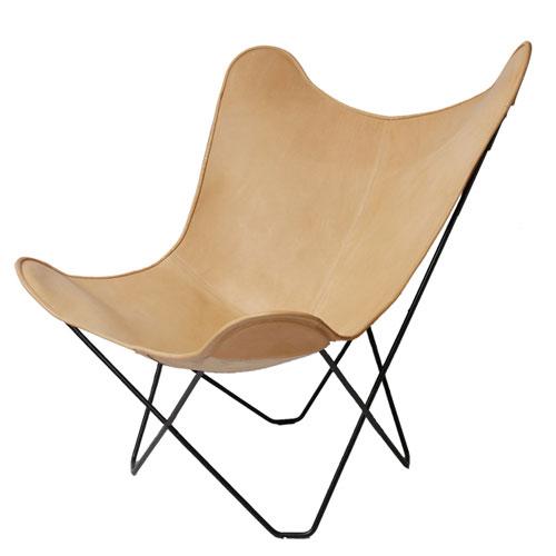 ロイヤルファニチャーコレクション ビーケーエフチェア (バタフライチェア) レザーカラー:ナチュラル / Royal BKF Chair /