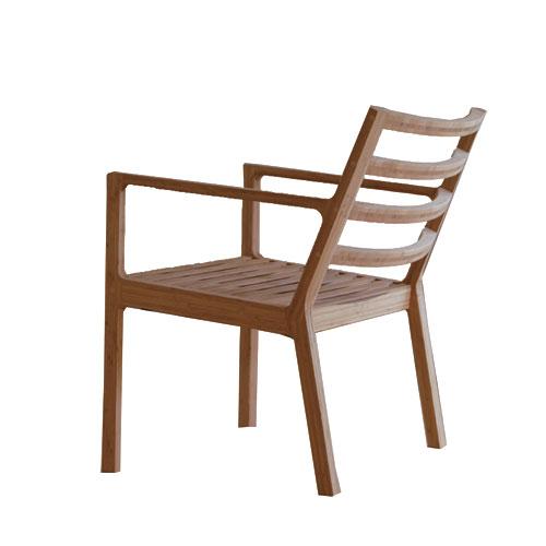 テオリ TEORI テンション ラウンジ チェア / Teori TENSION / 竹集材 木製 日本製 国産 竹 椅子 三原 鉄平デザイン