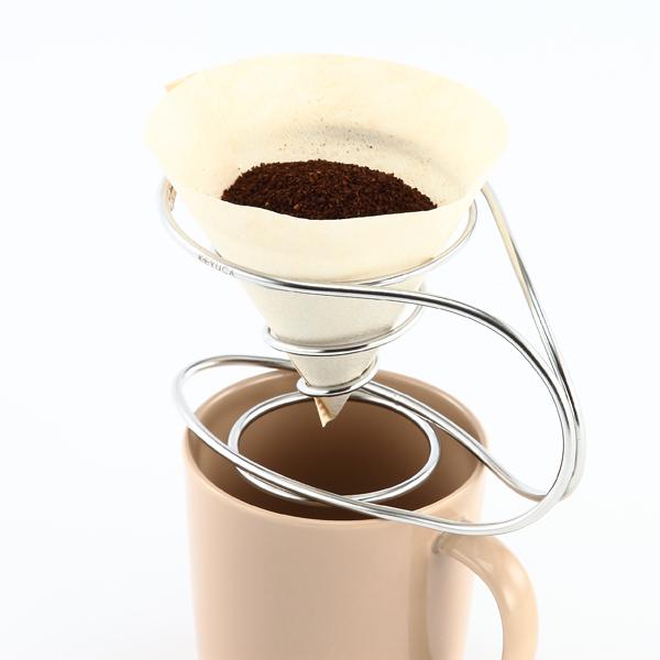 売り込み SALENEW大人気 自由気ままなコーヒータイムを KEYUCA ケユカ コーヒードリッパー ドリッパー 珈琲ドリッパー 円錐形フィルター用 螺旋 らせん おしゃれ ギフト ステンレス製 デザイン オシャレ 通販 プレゼント シンプル