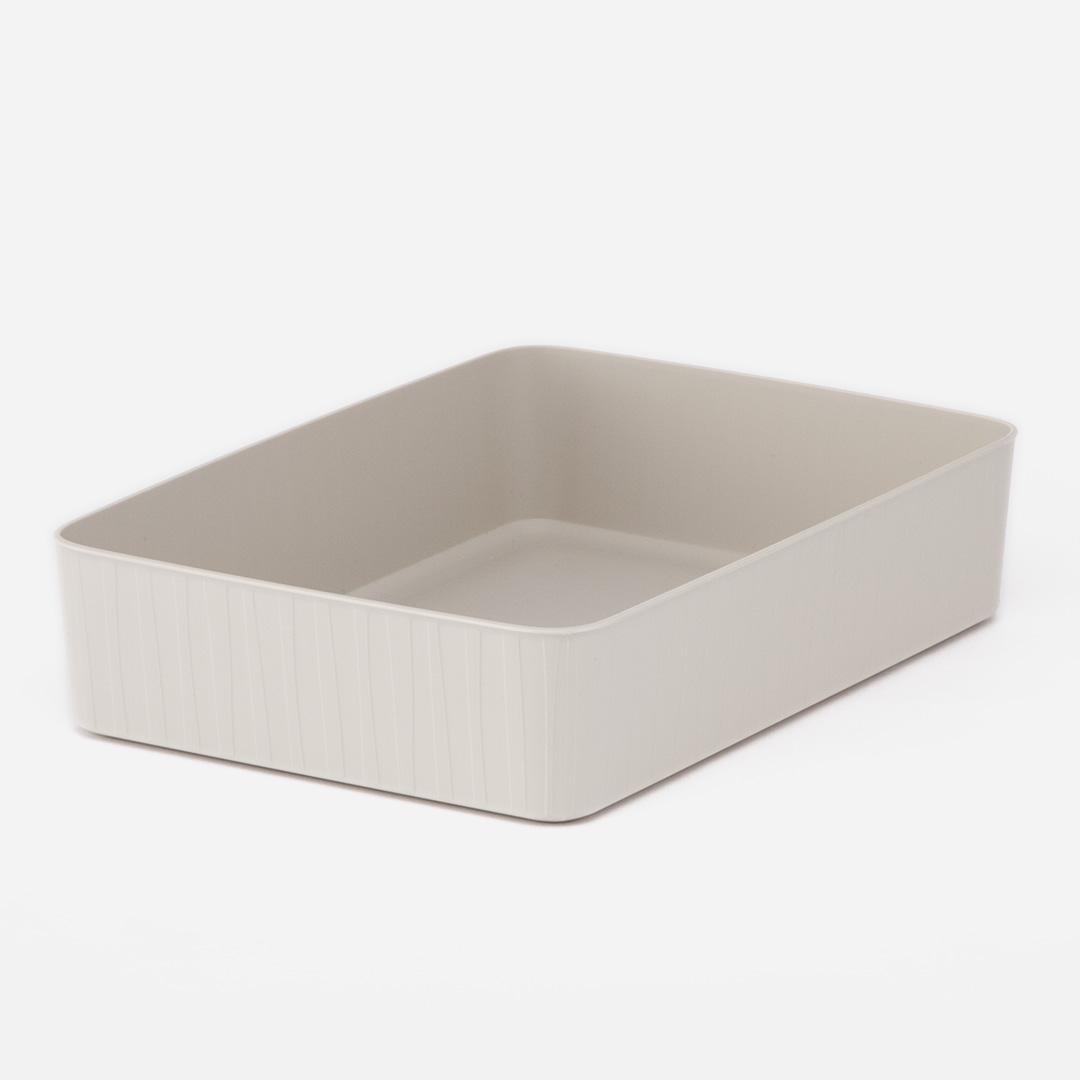 収納のグルーピングに適した柔らかい質感の収納ボックス KEYUCA公式店 ケユカ 世界の人気ブランド Pearno ソフトBOX ワイド浅 収納ボックス おしゃれ プラスチック やわらか 引き出し 収納ケース 収納 シンプル 子供部屋 正規品スーパーSALE×店内全品キャンペーン タオル収納 ナチュラル ストライプ柄 キッチン 洗面所 オシャレ キッチン収納 引出し 小物