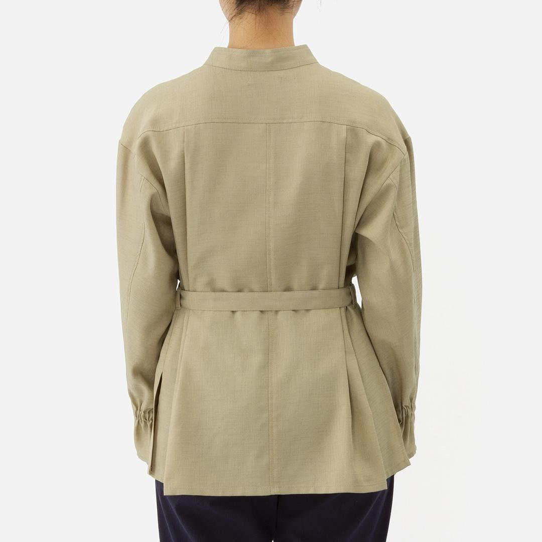 特別価格KEYUCA公式店 ケユカ ベルト付きCPOシャツブラウスレディース ウエストベルト ウエストマーク 無地BoWdxCer