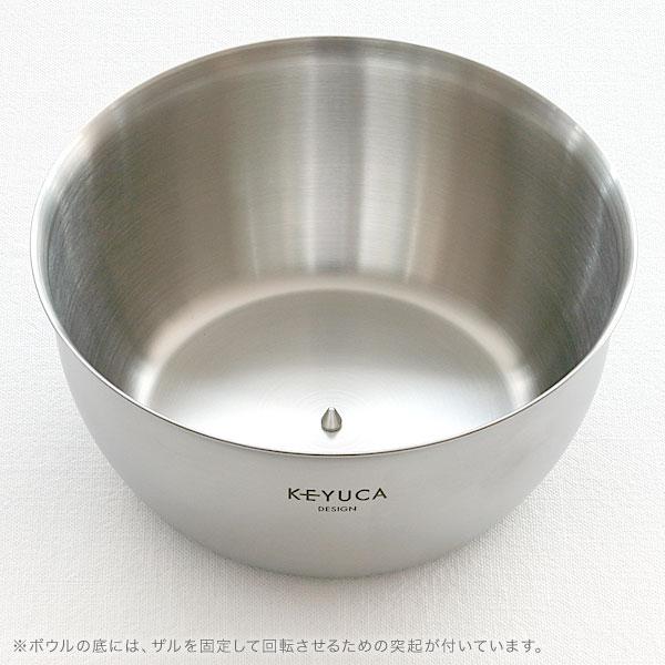 (限期供应价格)KEYUCA(keyuka)四方法·色拉磁旋体[上陆器/磁旋体/色拉磁旋体/蔬菜除去水分/漂亮的/漂亮的/摩登/简单的/设计/不锈钢/日本制造/厨房杂货/厨房用品/母亲节/乐天]