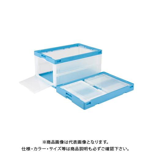 岐阜プラスチック工業 CB76NR カタトビラ ブルー透明 CB76NR カタトビラ Bトウメイ