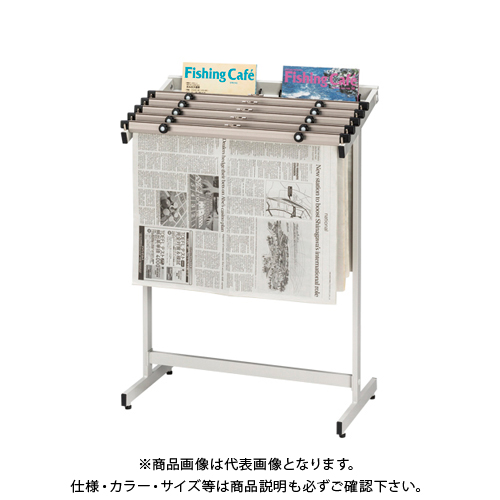 クラウン 新聞架(スチール製)5段タイプ CR-SN501-W