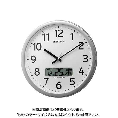 リズム時計工業 電波時計 プログラムカレンダー01SR 4FNA01SR19