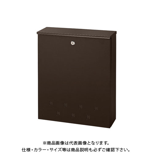 ナカバヤシ 宅配ボックス ポストタイプ ブラウン STB-001-S