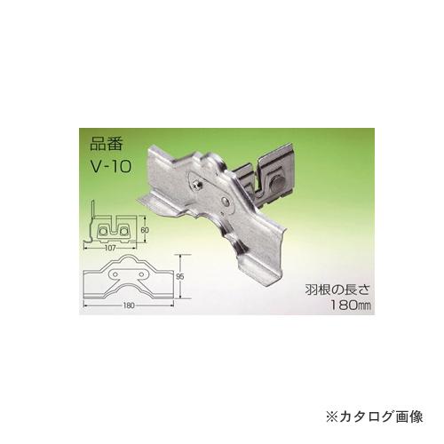 野島角清製作所 雪国 立平 (中)2本止 亜鉛板 V-10 (30個入)