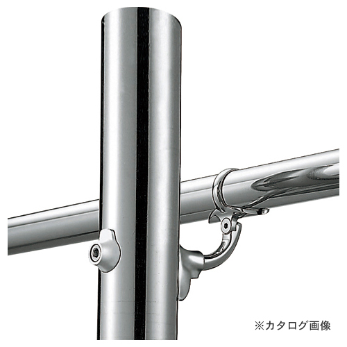 浅野金属工業 V400 自在L型 Pブラケット 継手タイプ (鏡面) φ35 AK41829M