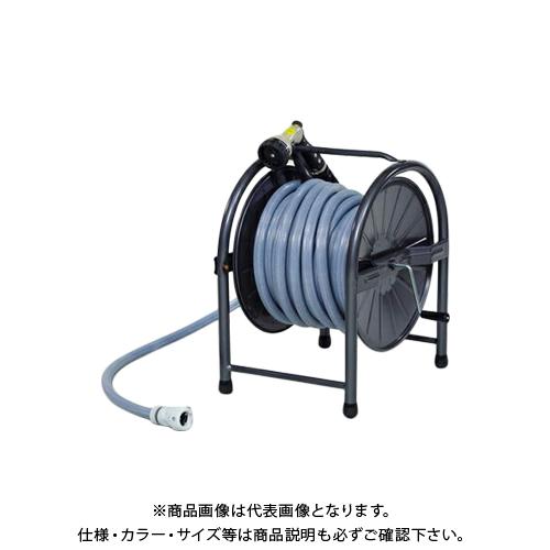グリーンライフ スチールホースリールセット30m HR-L30(GY)
