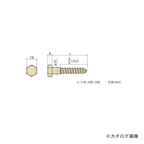 カネシン ラグスクリュー (200本入) LS12×125