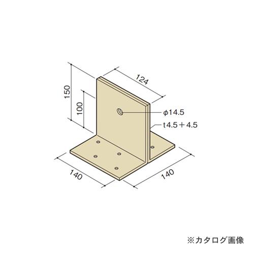 カネシン 柱脚金物 (10個入) GL-PB