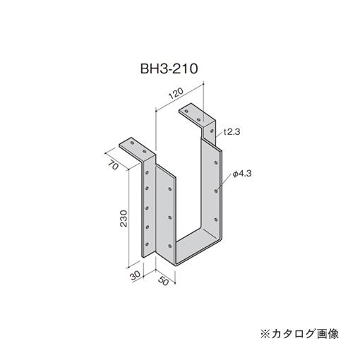 カネシン 梁受け金物 (10個入) BH3-210