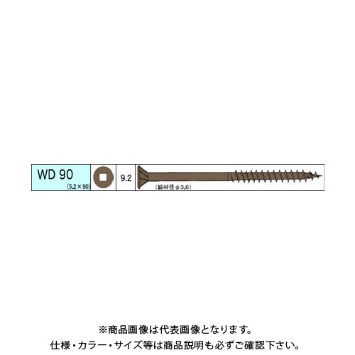 ダンドリビス ウッドデッキ材用ビス WD 1280本入 徳用箱 V-WDX090-TX
