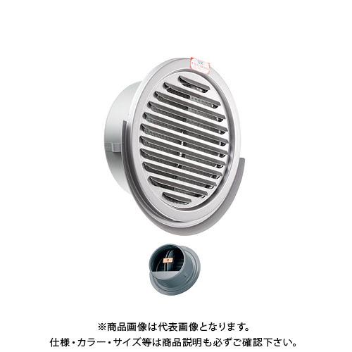 宇佐美工業 丸型スリムガラリ水切付 溶接組立式 防火ダンパー付 φ100 メタリックブラウン (36ヶ入) SEN100SFD-MB