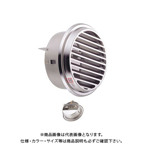 宇佐美工業 丸型ガラリ(内向き) 溶接組立式 防火ダンパー付 φ75 電解研磨処理 (36ヶ入) SSN75SHD-DK