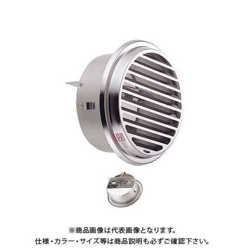 宇佐美工業 丸型ガラリ(内向き) 溶接組立式 防火ダンパー付 φ100 電解研磨処理 (36ヶ入) SSN100SHD-DK