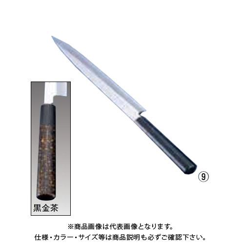 TKG 遠藤商事 歌舞伎調和庖丁 忠舟 柳刃 33cm 黒金茶 ATD0110 7-0283-0910