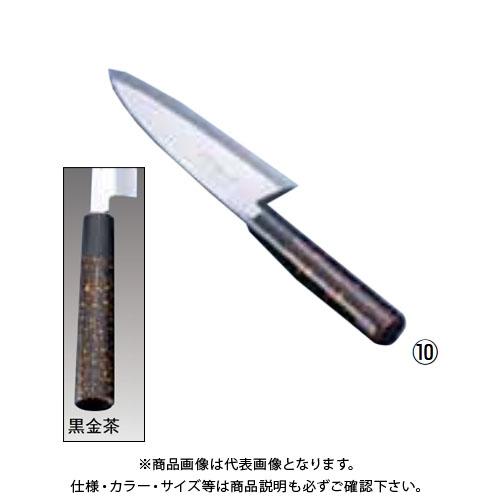 TKG 遠藤商事 歌舞伎調和庖丁 忠舟 出刃 15cm 黒金茶 ATD0201 7-0283-1001