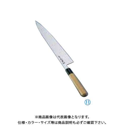 TKG 遠藤商事 正本 本霞 玉白鋼 水牛柄牛刀(両刃) 30cm AMSJ603 6-0283-1103