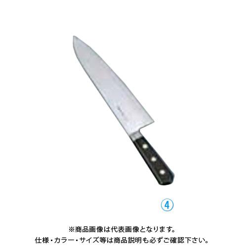 TKG 遠藤商事 堺孝行 日本鋼(ツバ付)洋出刃 21cm ANH04021 7-0298-0402