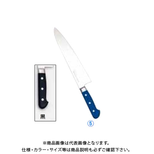 TKG 遠藤商事 堺實光 STD抗菌PC 牛刀(両刃) 24cm 黒 51506 AZT7013 7-0318-0503