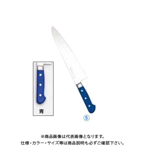 TKG 遠藤商事 堺實光 STD抗菌PC 牛刀(両刃) 24cm 青 56006 AZT7014 7-0318-0508