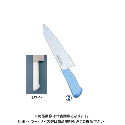 TKG 遠藤商事 マスターコック抗菌カラー庖丁 牛刀 MCGK-270 ホワイト AMSE3271B 7-0320-0204