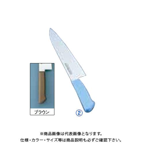 TKG 遠藤商事 マスターコック抗菌カラー庖丁 牛刀 MCGK-300 ブラウン AMSE3306A 7-0320-0223