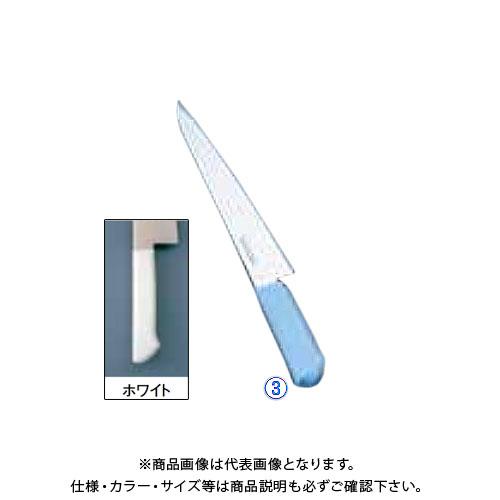 TKG 遠藤商事 マスターコック抗菌カラー庖丁 筋引 MCSK-270 ホワイト AMSE4271B 7-0320-0302