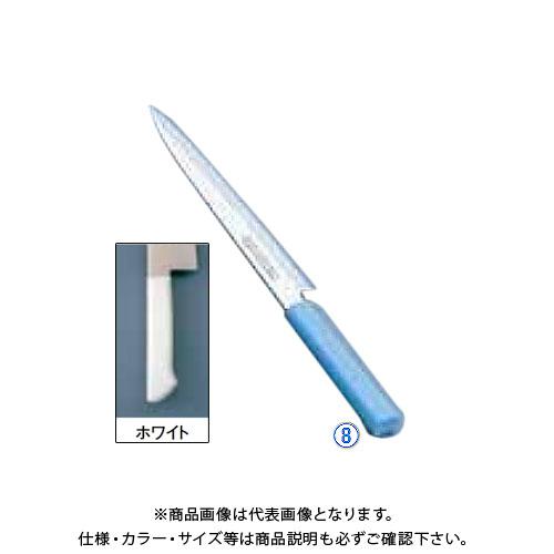TKG 遠藤商事 マスターコック抗菌カラー庖丁 柳刃 MCYK-210 ホワイト AMSF0211B 7-0320-0801