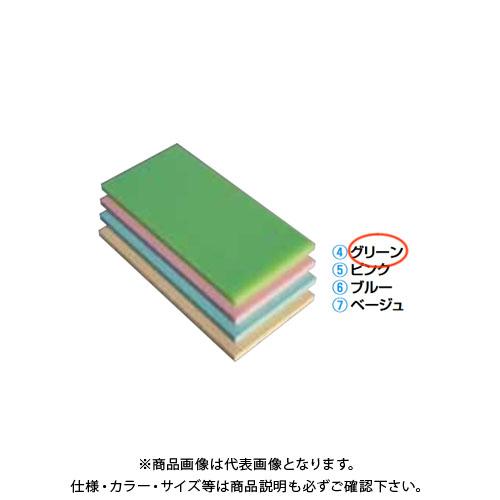 【運賃見積り】【直送品】TKG 遠藤商事 瀬戸内一枚物カラーまな板グリーン K6 750×450×H30mm AMNH110 6-0332-0410