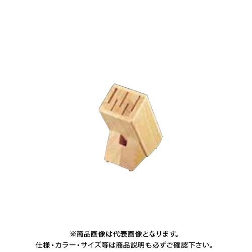 TKG 遠藤商事 ナイフブロックTH(ラバーウッド) LF-062 ANI2701 7-0363-0201