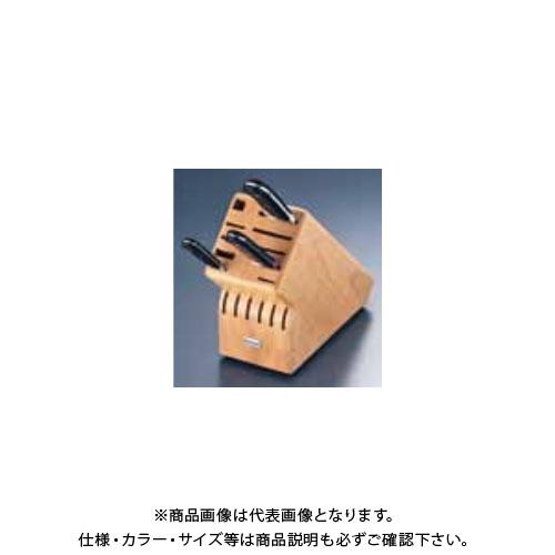TKG 遠藤商事 ヴォストフ ナイフブロック (木製)No.7240 ANI08 6-0348-0401