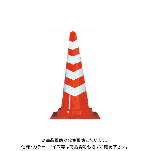 【直送品】安全興業 スコッチコーン 赤白 4段貼り (25入) SCR-4