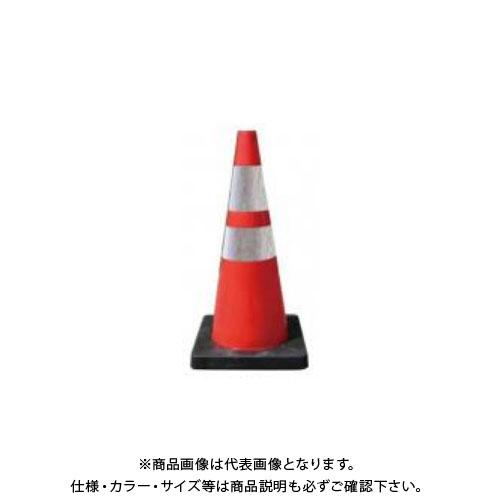 【直送品】安全興業 Dコーン 赤白(プリズム反射) (8入) DCRWP