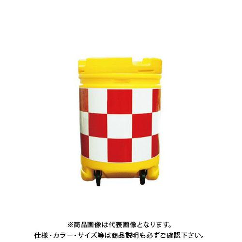 【運賃見積り】【直送品】安全興業 AZクッションドラムコロ付 赤白 (1入) AZCK-001