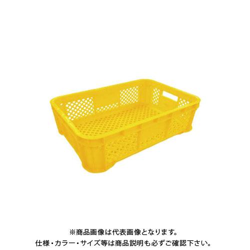 【直送品】安全興業 ハーフコンテナ メッシュ 黄 520×365×158mm (10入)