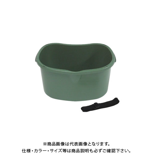 【直送品】安全興業 散布桶 18型 ダークグリーン(再生原料) 430×310×213mm (20入)